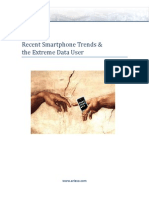 Recent Smartphone Trends and the Extreme Data User White Paper 2012