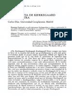 La Angustia de Kierkegaard y La Nuestra