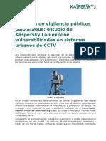 Kaspersky Lab Press Release CCTV Research ESP