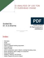 Material handling crane design notes