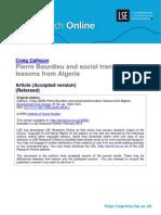 Pierre Bourdieu and Social Transformation %28lsero%29