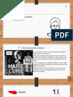 Marie Curie  patriotism si discrriminarea femeii