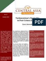 Luca Anceschi - Turkmenistan's Neutrality in Post-Crimea Eurasia