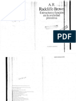 Radcliffe-Brown - Estructura y función en la sociedad primitiva