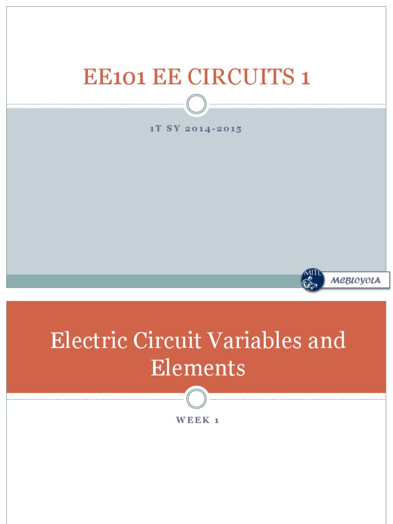 Electric Circuit Variables and Elements | Electric Current | Voltage