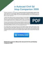 Manual de Autocad Civil 3d Land Desktop Companion 2009