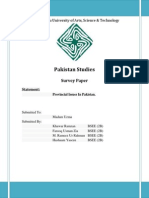 Issue of New Provinces in Pakistan