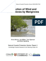 Reduction of Wind and Swell Waves by Mangroves