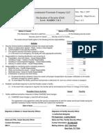 Intercontinental Terminals Company LLC Declaration of Security
