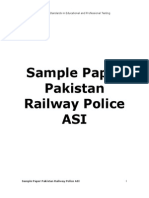 Pakistan Railway Police ASI NTS Test Sample Paper