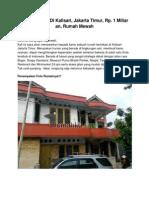 Rumah Dijual Di Kalisari, Jakarta Timur, Rp. 1 Miliar an, 13790
