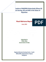 Monitoring & Evaluation of NWDPRA Watersheds (Phase III) using Remote Sensing, GIS and MIS in the States of Rajasthan
