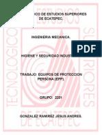 Equipos de Proteccion Personal. Higiene y Seguridad Industrial.