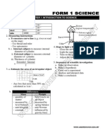 Form 1 Chapter 1 -7 Science Notes