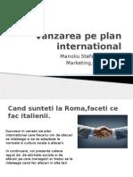 Vanzarea Pe Plan International