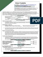 Fredette Resume SalesPro 2010