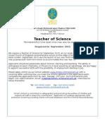 Teacher of Science