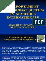 COMPORTAMENTUL PROFESIONAL ŞI ETICA ÎN AFACERILE INTERNAŢIONALE 2
