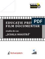 Brosura Educatie Prin Film Documentar Studiu de Caz Scoala Noastra PDF
