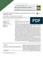 BARALDI-CECCHI-TRALLI-2015-Continuous and Discrete Models for Masonry Like Material a Critical Comparative Study