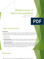 Measurement of Electrical Quantities