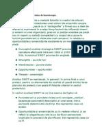 Analiza SWOT În Activitatea de Kinetoterapie