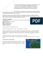 situacion geografica COLOMBIA - completisimo