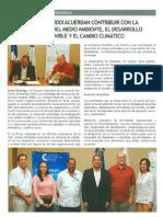 La CNE y el IDDI acuerdan contribuir con la protección del medio ambiente , el desarrollo sostenible y El Cambio Climático