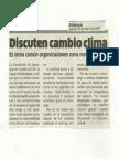 Discuten Cambio Clima