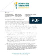 MRA Letter to Governor Dayton, Speaker Daudt, Senator Bakk - Special Session - 06.02.15