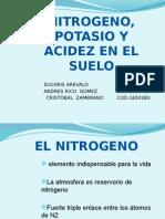 Nitrogeno Potasio y Acidez