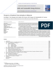 Chronology of Biodiesel Development in Malaysia