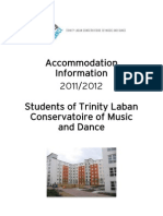 Accommodation Information Pack 2011-2012 Trinity
