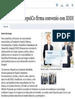 La Fundación Pepsico firma Convenio con IDDI