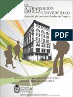 Barreras en La Transición Del Colegio a La Universidad
