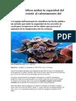 Varios Científicos Miden La Capacidad Del Coral Para Resistir Al Calentamiento Del Océano[1]