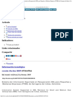 Información Tecnológica - Sistema de Información Soportado en Recuperación X