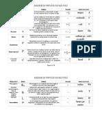 Tabel Cu Unități de Măsură XI Sem.2