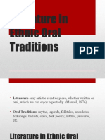Literature in Ethnic Oral Traditions 2