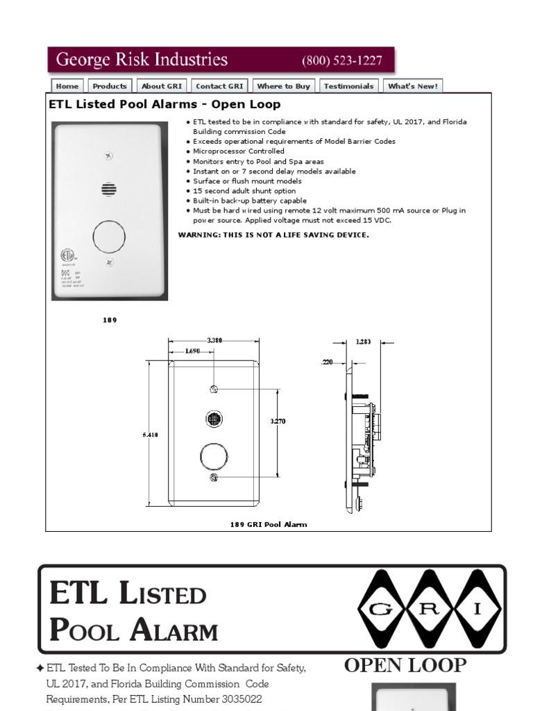 gri 189 1 data sheet power supply battery electricity rh scribd com Burglar Alarm Wiring Diagram Burglar Alarm Wiring Diagram