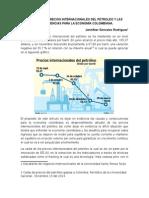 Caida de Los Precios Internacionales Del Petroleo y Las Consecuencias Para La Economía Colombiana