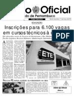 11.03.2014 - Diário Oficial de Pernambuco