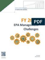 FY 2015 EPA Management Challenges