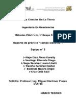 "Reporte de práctica ""Campo Eléctrico"".(Cartulinas)"