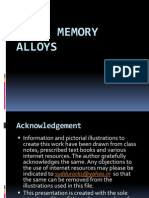 Shape Memory Alloys