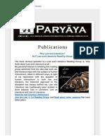 Paryaya May 2015
