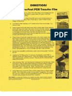 Directions Press-n-Peel Transfer Film