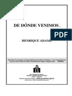 Adame, Henrique - De Donde Venimos [PDF]
