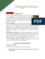 Empresas Socialmente Responsables Distinguidas 2014