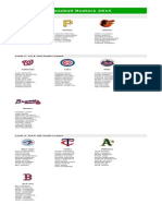 Baseball Rosters 2015